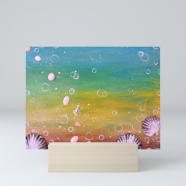 READY TO BREATHE - ANOTHER DREAM - Original abstract painting by HSIN LIN / HSIN LIN ART Mini Art Print