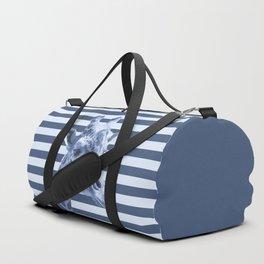 [Animals & Stripes] Blue giraffe Duffle Bag