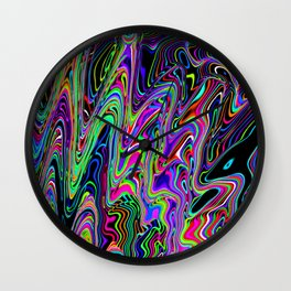 Glass Blob Wall Clock