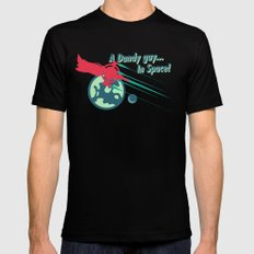 A Dandy guy... In Space! Mens Fitted Tee MEDIUM Black