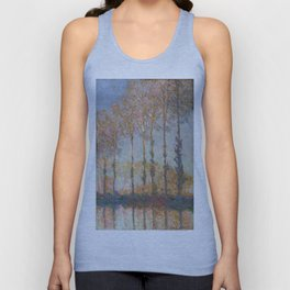 Claude Monet, French, 1840-1926  Poplars on the Bank of the Epte River Unisex Tank Top