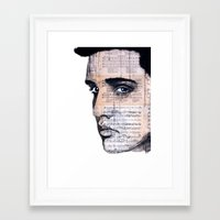 elvis Framed Art Prints featuring Elvis by Krzyzanowski Art