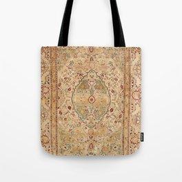 Silk Tabriz Azerbaijan Northwest Persian Rug Print Tote Bag