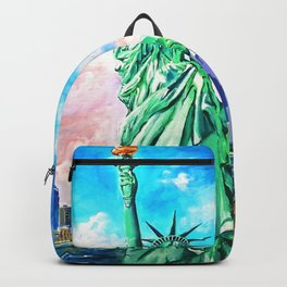 NYC, WTC, Twin Towers, Statue of Liberty Backpack