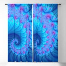 colorful fractal spirals -124- Blackout Curtain