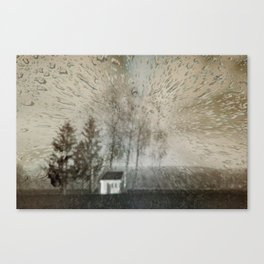Concept landscape : Chapel in the rain Canvas Print