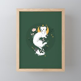 Magic Moon Stoat Framed Mini Art Print