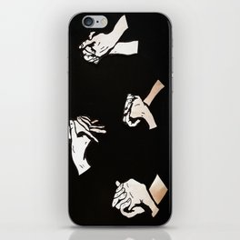 our hands  iPhone Skin