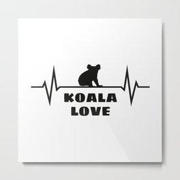 Koala Heartbeat Metal Print