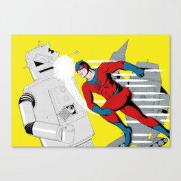 Speed Demon vs The Mechanical Menace Canvas Print