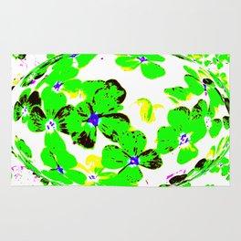 Floral Easter Egg Rug