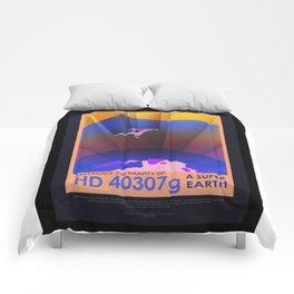 HD 40307 g - NASA Space Travel Poster (Alternative) Comforters