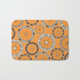 bike wheels amber Bath Mat