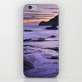 Vela blanca tower. Purple beach iPhone Skin