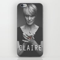 house of cards iPhone & iPod Skins featuring Claire Underwood / House of Cards by Earl of Grey