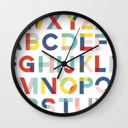 Modern Alphabet Print Wall Clock