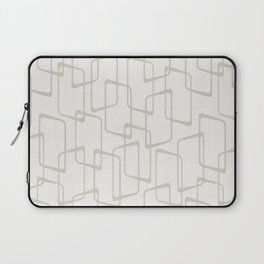 Beige / Light Warm Gray Retro Geometric Print Laptop Sleeve