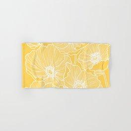 Sunshine Yellow Poppies Hand & Bath Towel