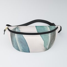 Modern boho abstract watercolor feathers Fanny Pack