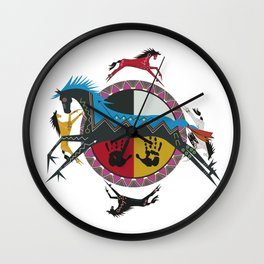 American Native Pattern No. 355 Wall Clock