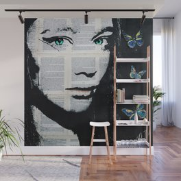 Yekaterina with butterflies Wall Mural