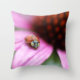 Lady of Summer Throw Pillow