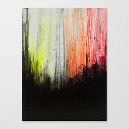 Trees in Neon Canvas Print