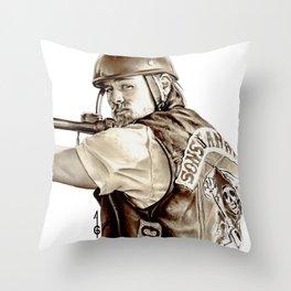Sons of Anarchy (JAX TELLER fanart) Throw Pillow
