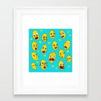 lemongrab Framed Art Prints featuring Lemongrab BLUE  by Stiles