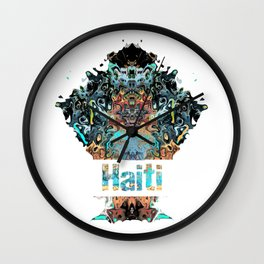 Haiti Awesome Country gift Wall Clock