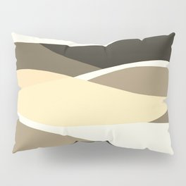 Beige Brown and Taupe Abstract Pillow Sham