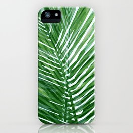 Abstract Palm Leaves | Green iPhone Case