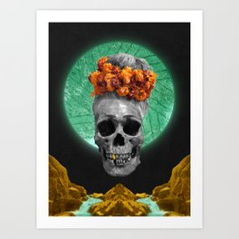 Spiritual Skull Of The Gold Land And The Millstone Art Print
