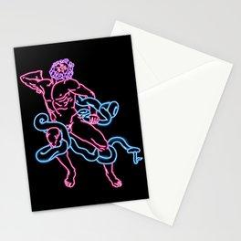 Snake Man Neon Stationery Cards