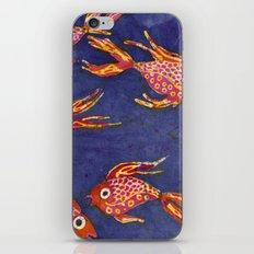 Goldfish batik iPhone & iPod Skin