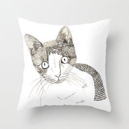 Humphrey the cat Throw Pillow
