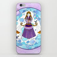 libra iPhone & iPod Skins featuring Libra by Sandra Nascimento