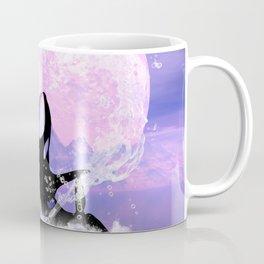 Orca jumping by a heart Coffee Mug