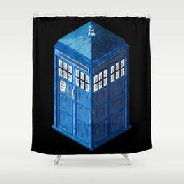 8 Bit Tardis Shower Curtain