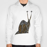 greg guillemin Hoodies featuring Snail Abstract by Greg Phillips by SquirrelSix