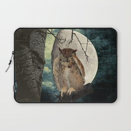 Great Horned Owl Bird Moon Tree A138 Laptop Sleeve
