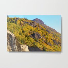 Alaskan Autumn - Painting Metal Print