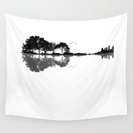 Acoustic Guitar Forest Nature Reflection Musician Wall Tapestry