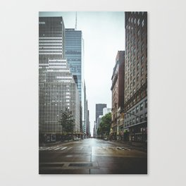 Empty Streets - New York City Canvas Print