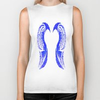 angel wings Biker Tanks featuring Angel wings.  by Dead City