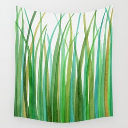 Green Grasses Wall Tapestry
