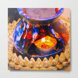 Oil Burner Metal Print