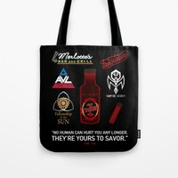 true blood Tote Bags featuring True Blood Logos by CLM Design