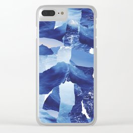 Nautical abstract pattern Clear iPhone Case