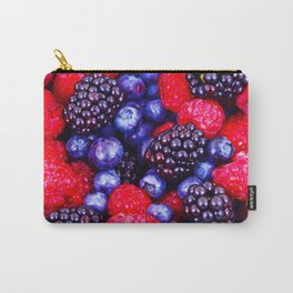 Colorful Berrie Fruits Close Up - Oil painting Carry-All Pouch